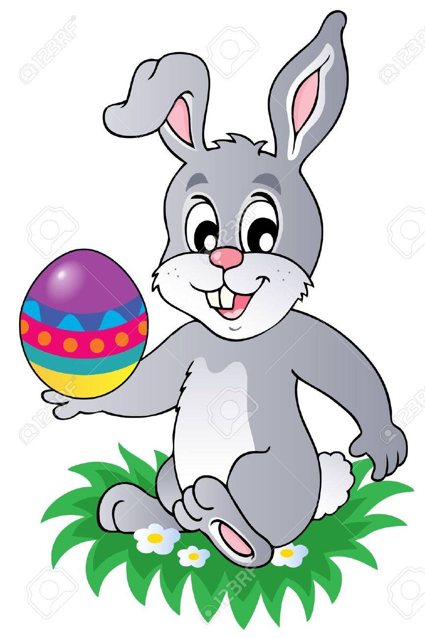 Easter bunny theme image 1 - vector illustration. Stock Vector - 12482797