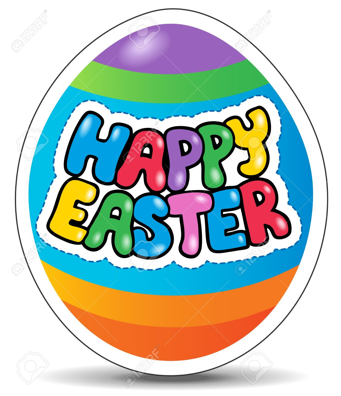 image regarding Happy Easter Sign Printable identified as Satisfied Easter signal topic impression 1 - vector instance.