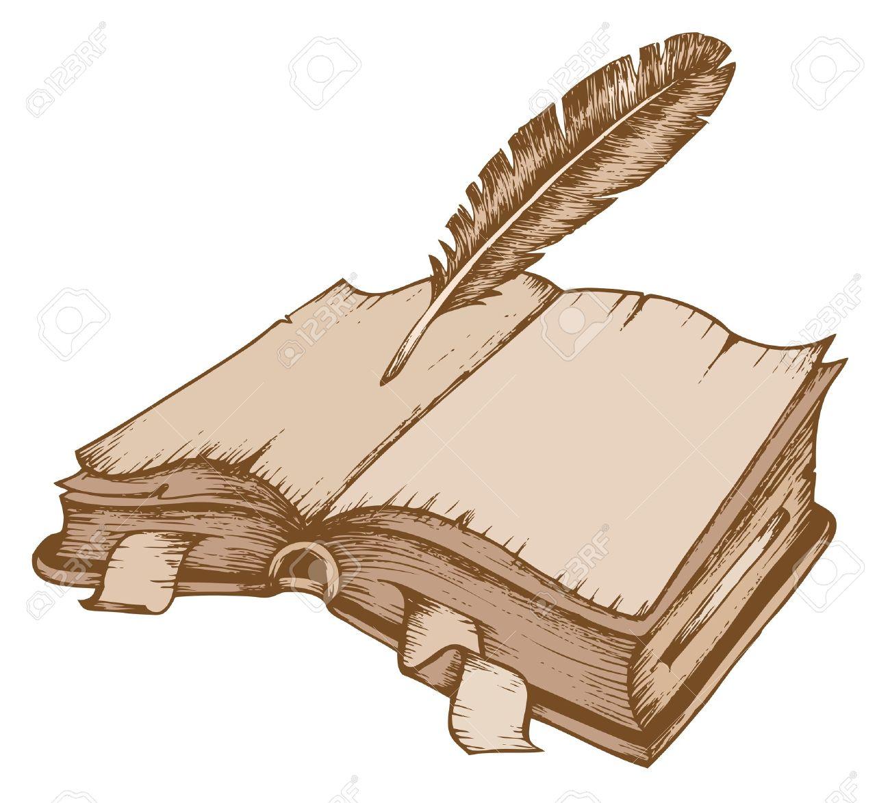 Aufgeschlagenes buch gezeichnet  Buch Antik Lizenzfreie Vektorgrafiken Kaufen: 123RF