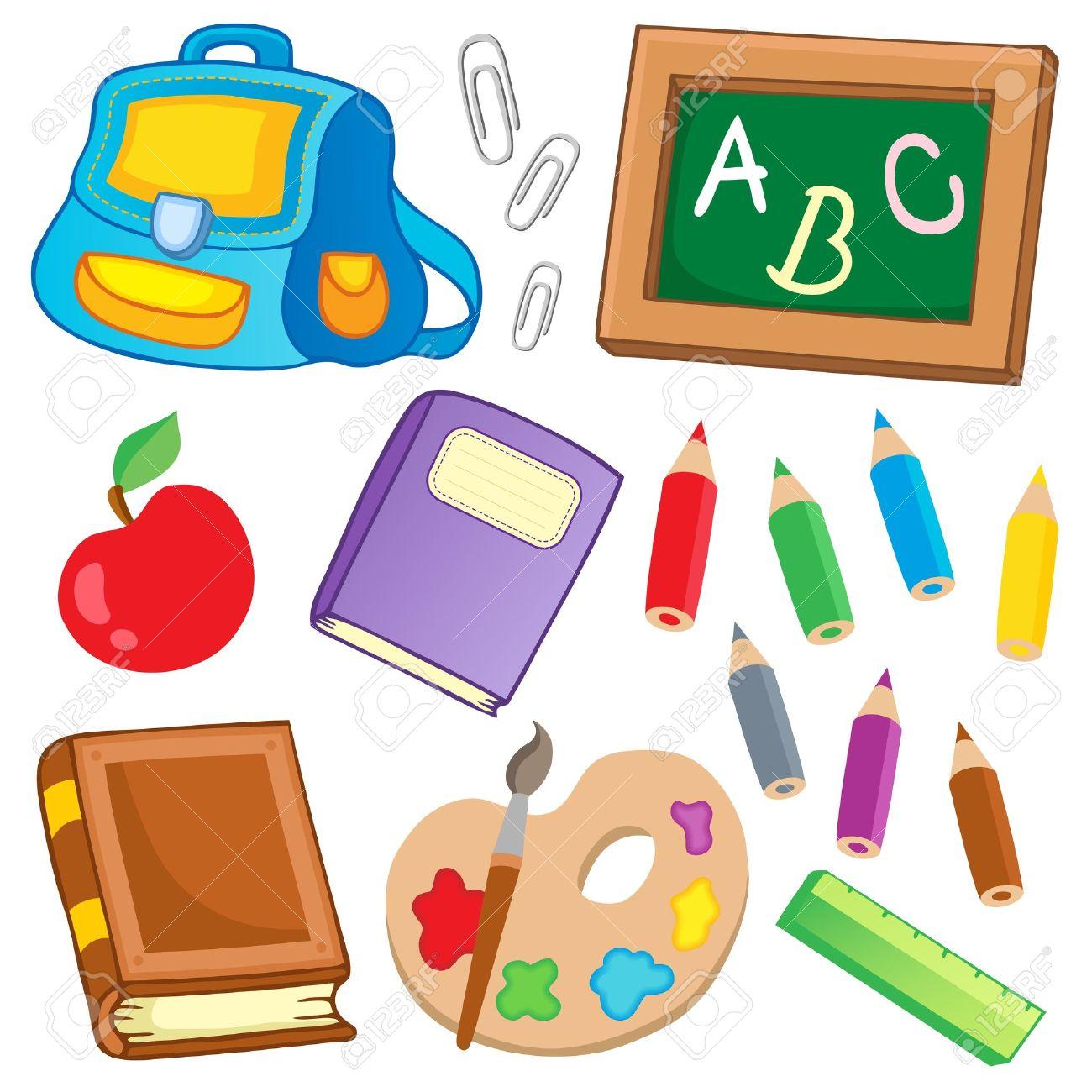 útiles Escolares Animados Imágenes De Archivo, Vectores, útiles ...