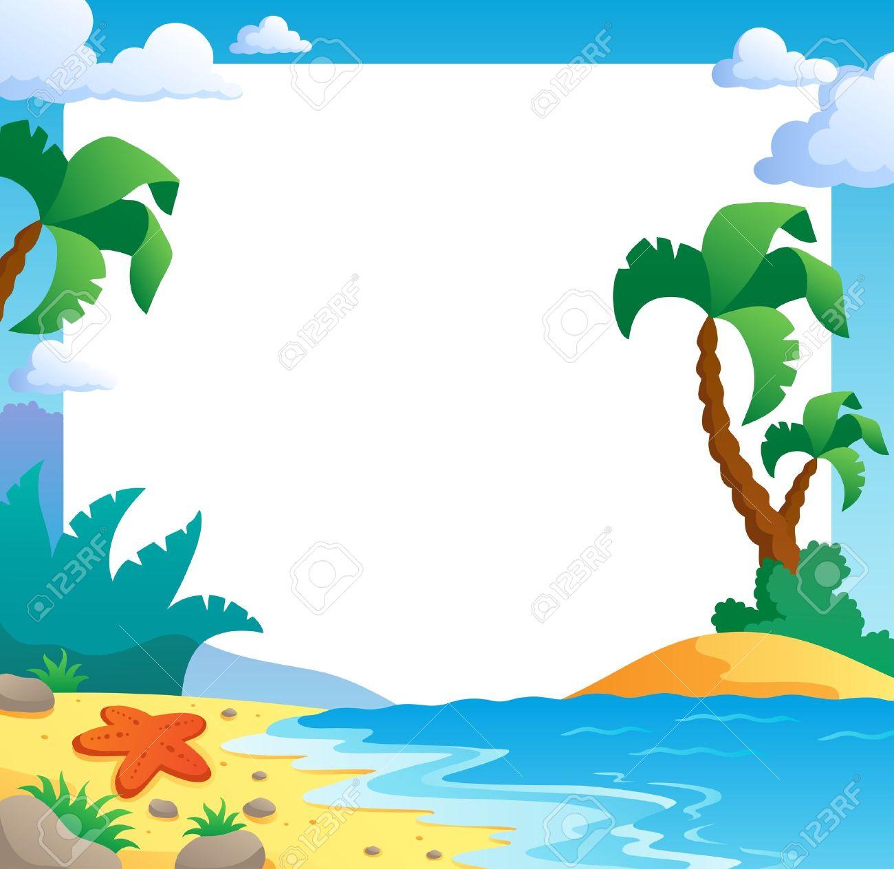 Beach theme frame 1 - vector illustration Stock Vector - 12895900