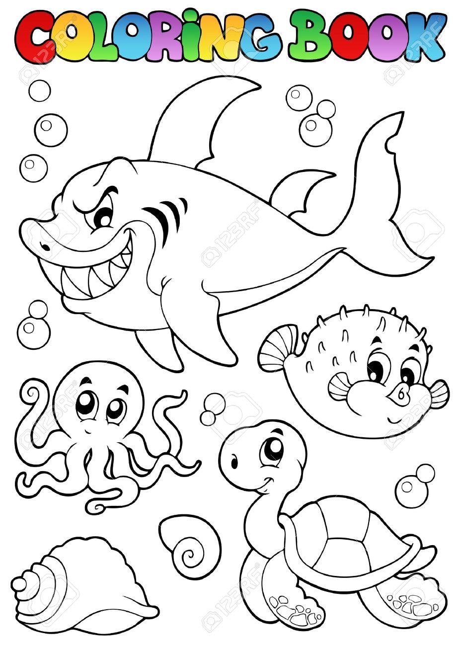Dibujos Para Colorear Animales Marinos Diversos Libros 1