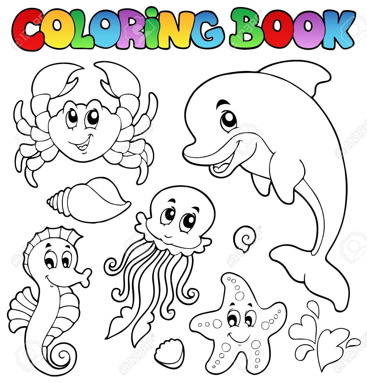 Раскраска для детей морские животные