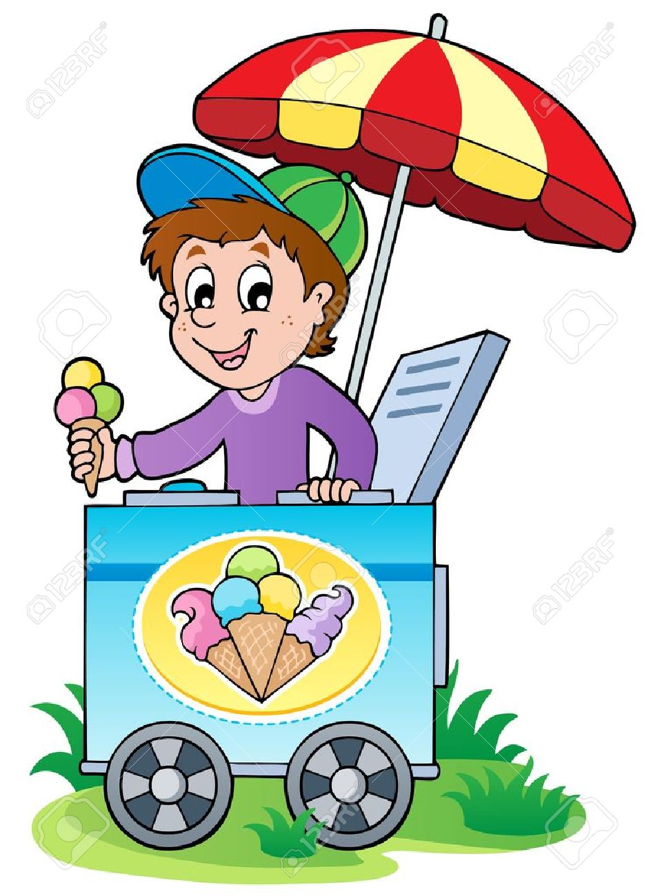 Happy ice cream man - vector illustration Stock Vector - 13057339