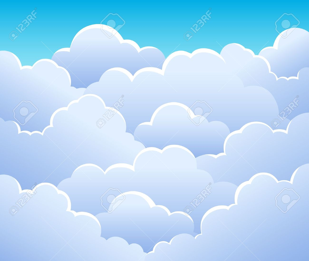 Cloudy sky background 3 - vector illustration Stock Vector - 13356173