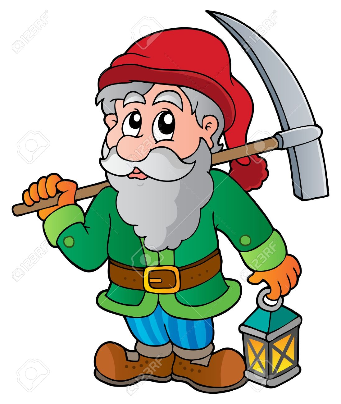 Cartoon dwarf miner Stock Vector - 13879110
