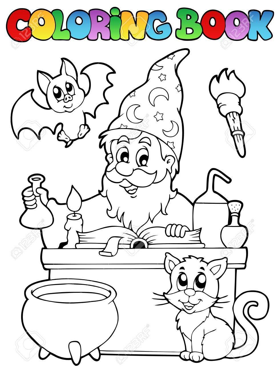 Coloring book alchemist Stock Vector - 13883027