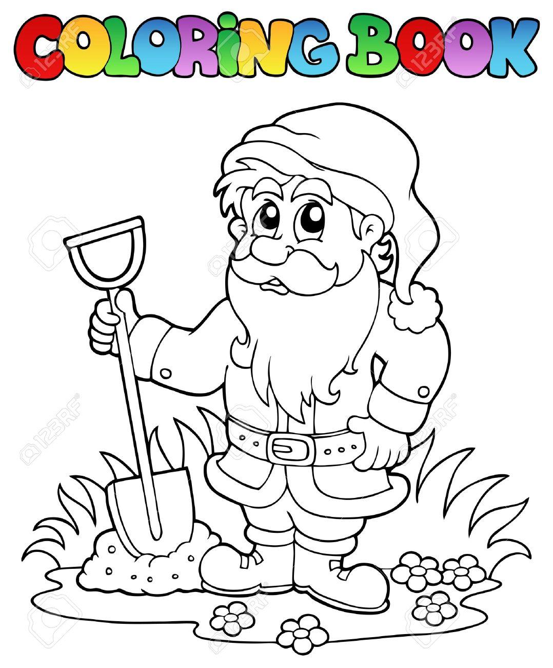Coloriage Nain De Jardin Bande Dessinée Clip Art Libres De Droits ...