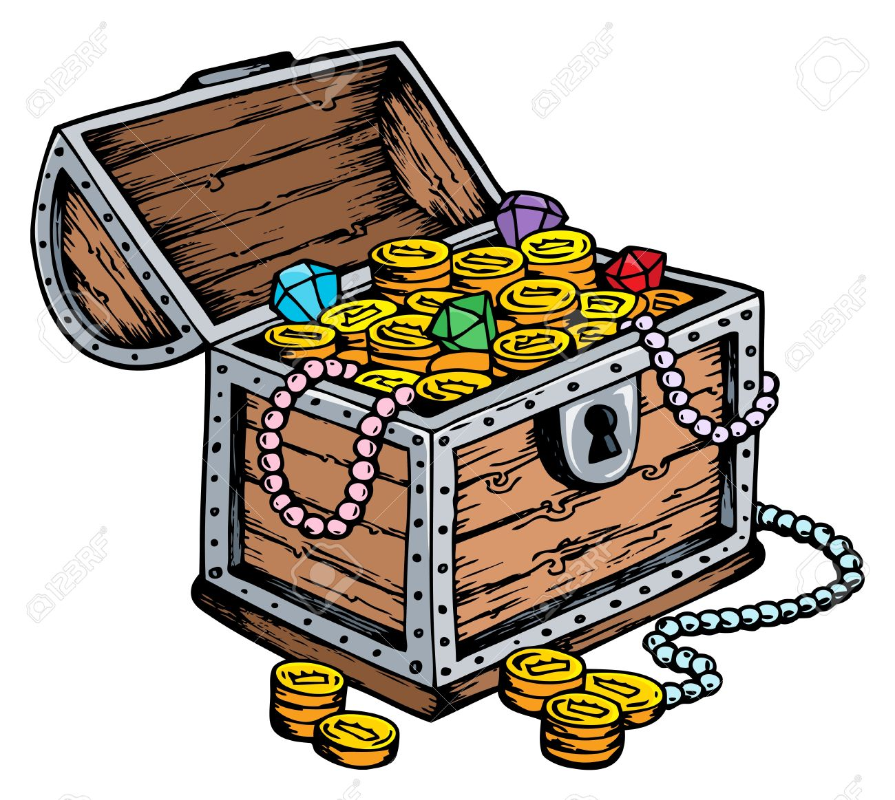 treasure chest drawing stock photo picture and royalty free image
