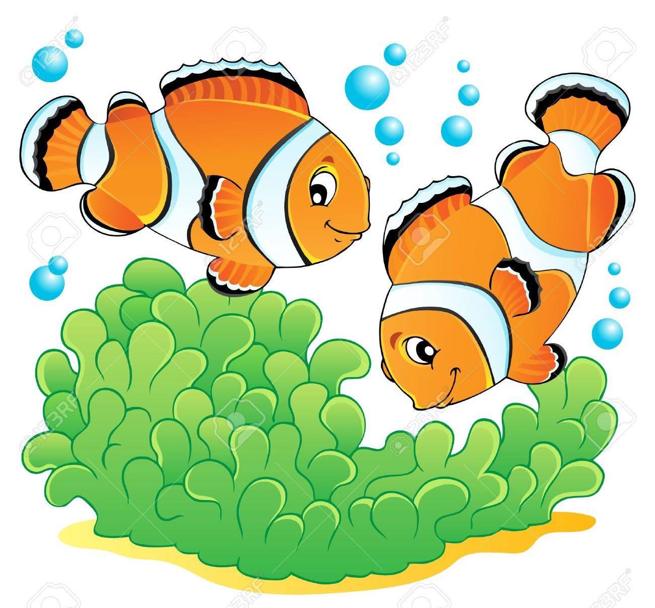 Clown fish theme image 1 illustration - 14603755