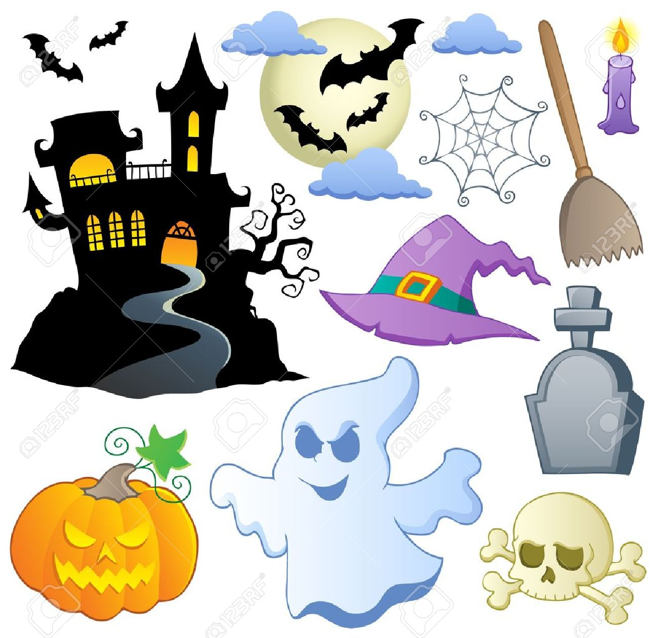 Halloween Theme Collection 1 Illustration Royalty Free Cliparts ...