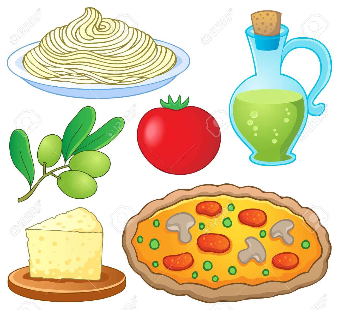 Clip Art Italian Food Clip Art italian food collection 1 vector illustration royalty free stock 15191242
