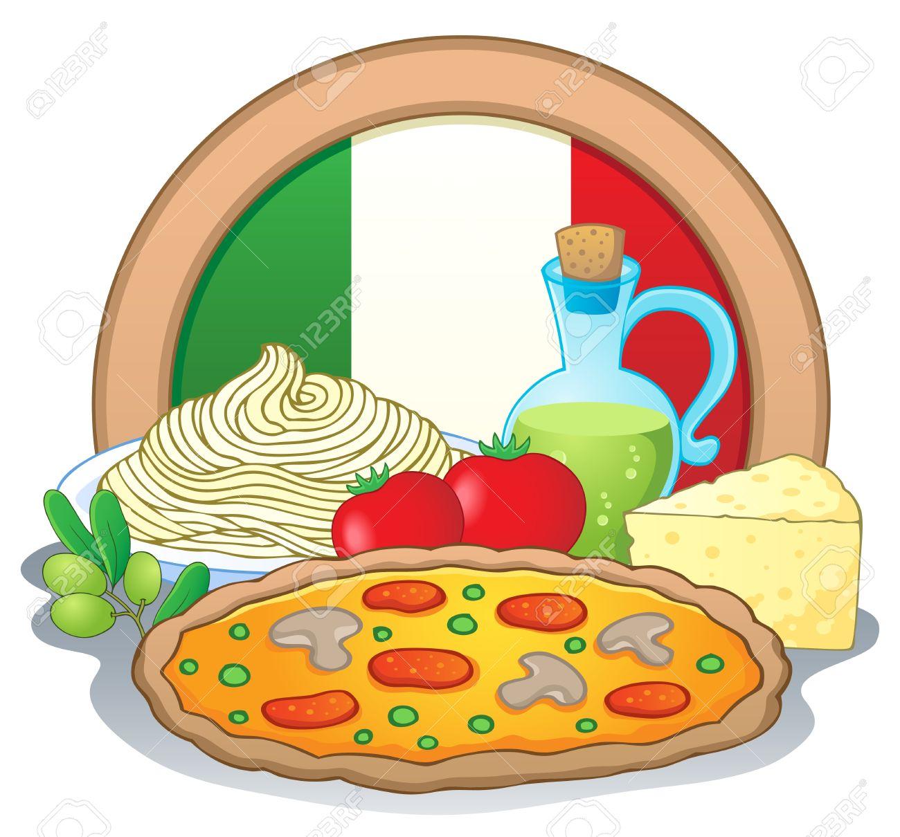 イタリア料理テーマ イメージ 1 ベクトル イラストのイラスト素材