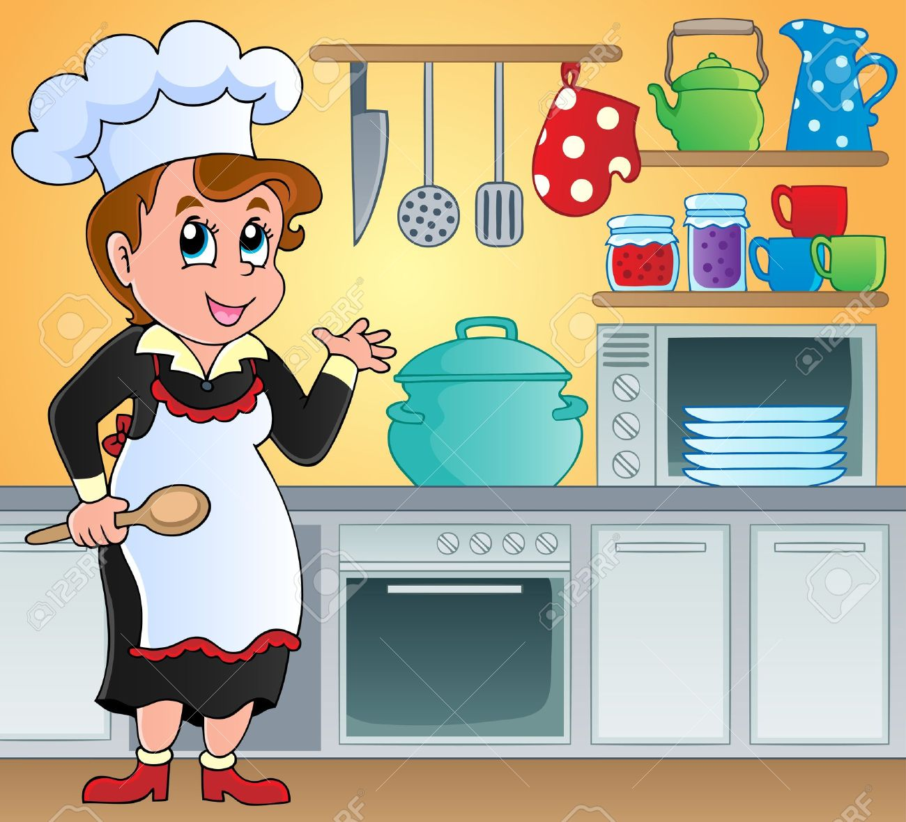 Kitchen Theme Image 6 - Vector Illustration Royalty Free Cliparts ...