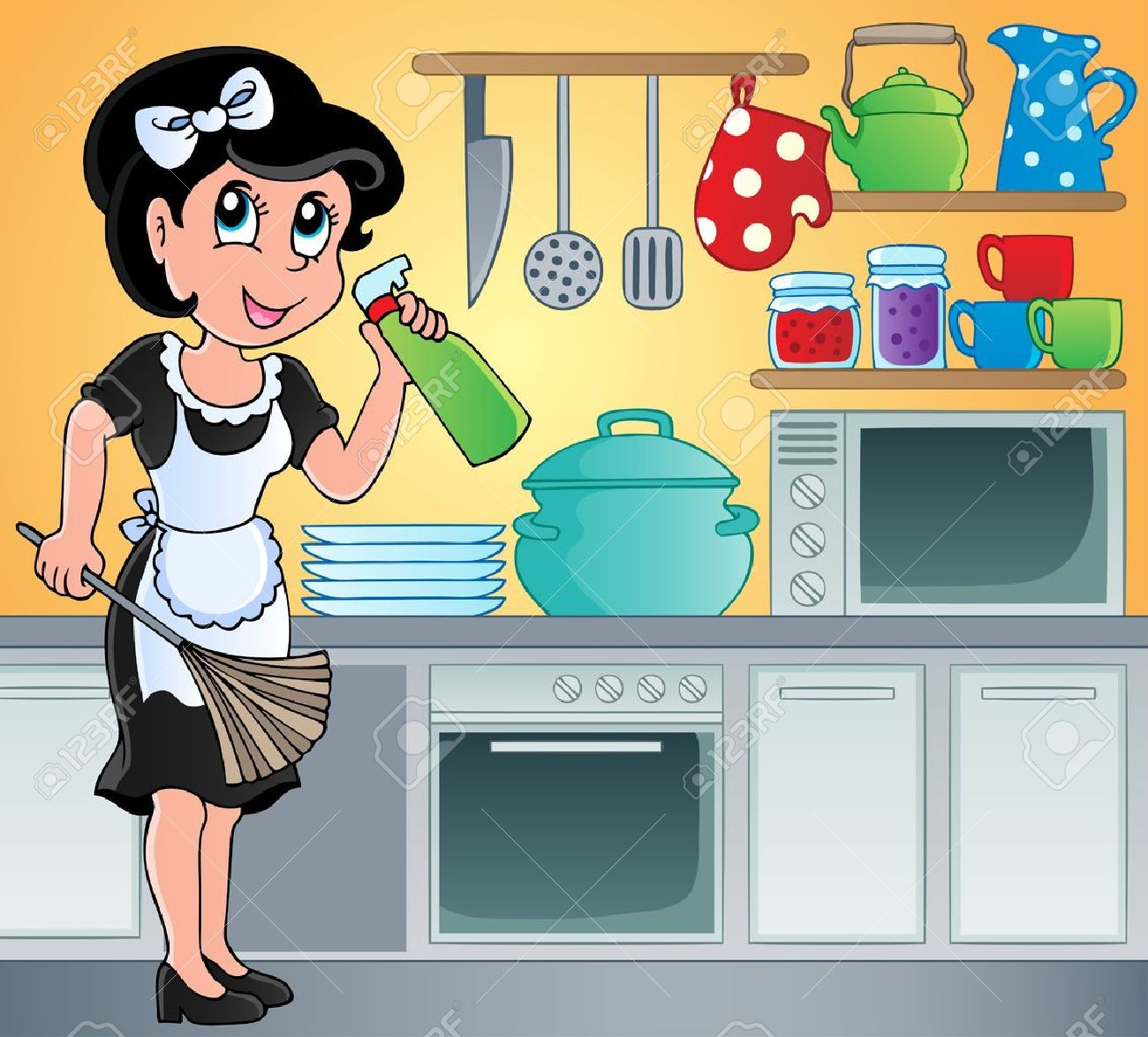 Kitchen Theme Image 7 - Vector Illustration Royalty Free Cliparts ...