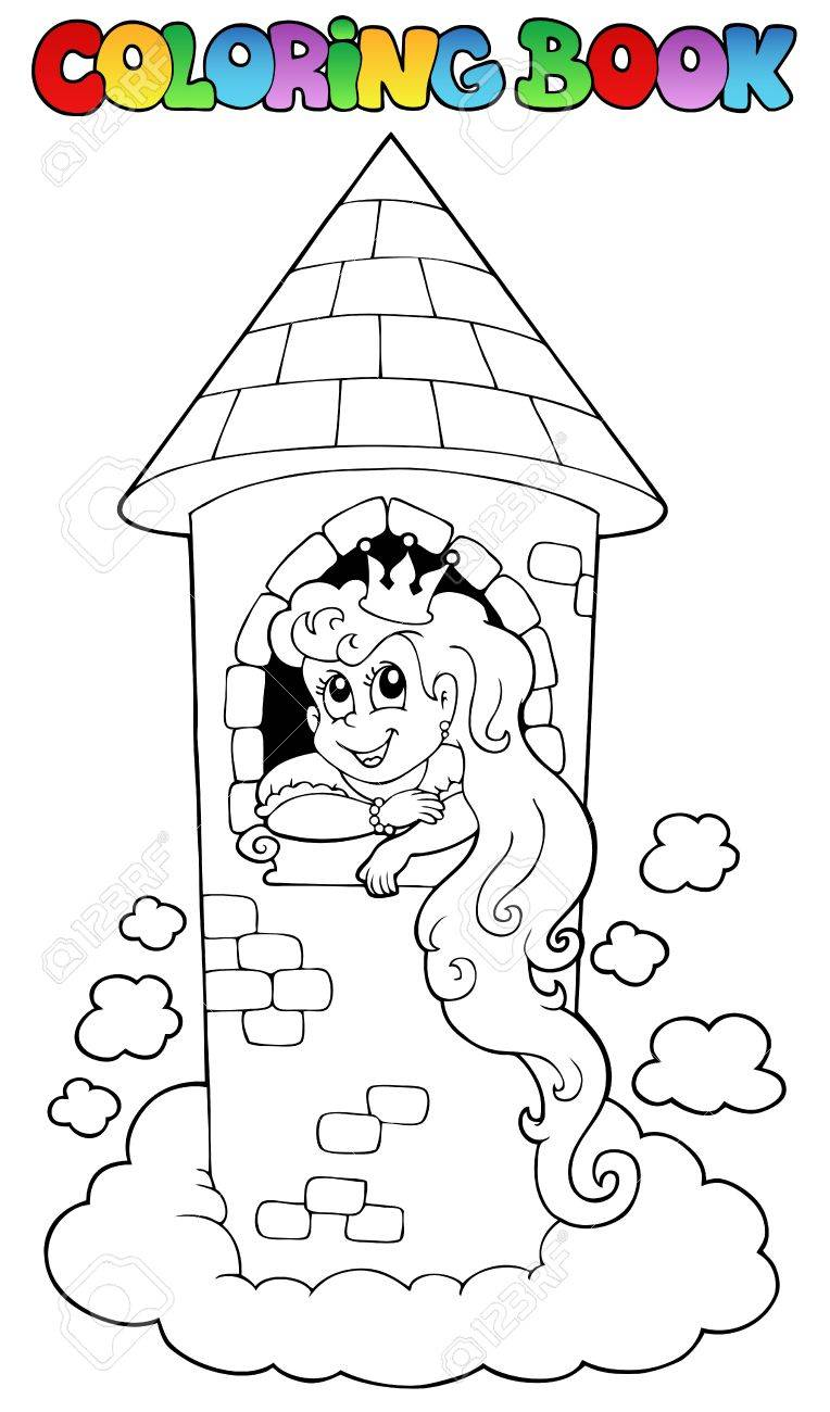 Coloring book princess - Coloring Book Princess Theme 1 Vector Illustration Stock Vector 15045987