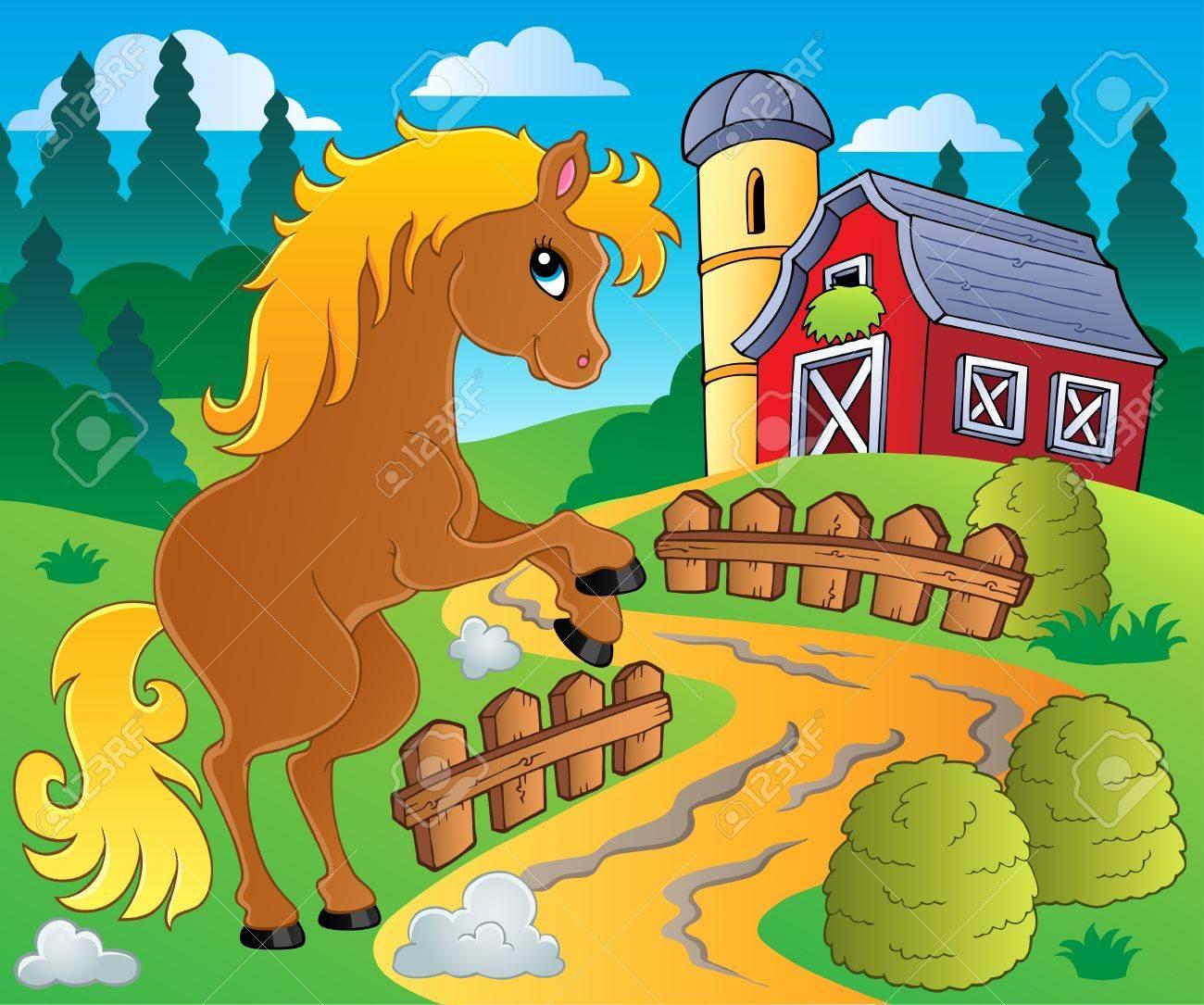 Horse theme image 4 - vector illustration Stock Vector - 15045984