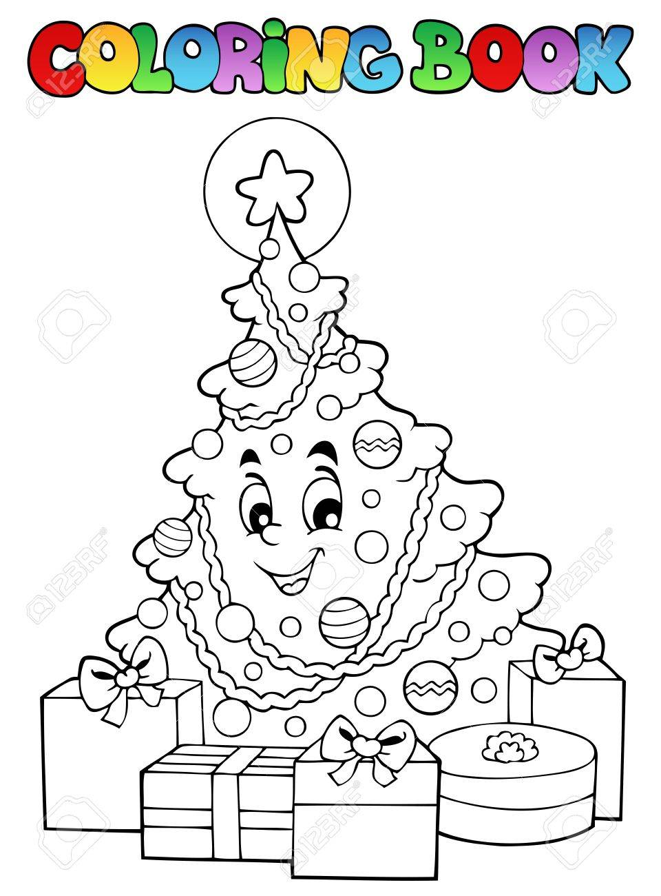 Coloring Book Christmas Stock Vector