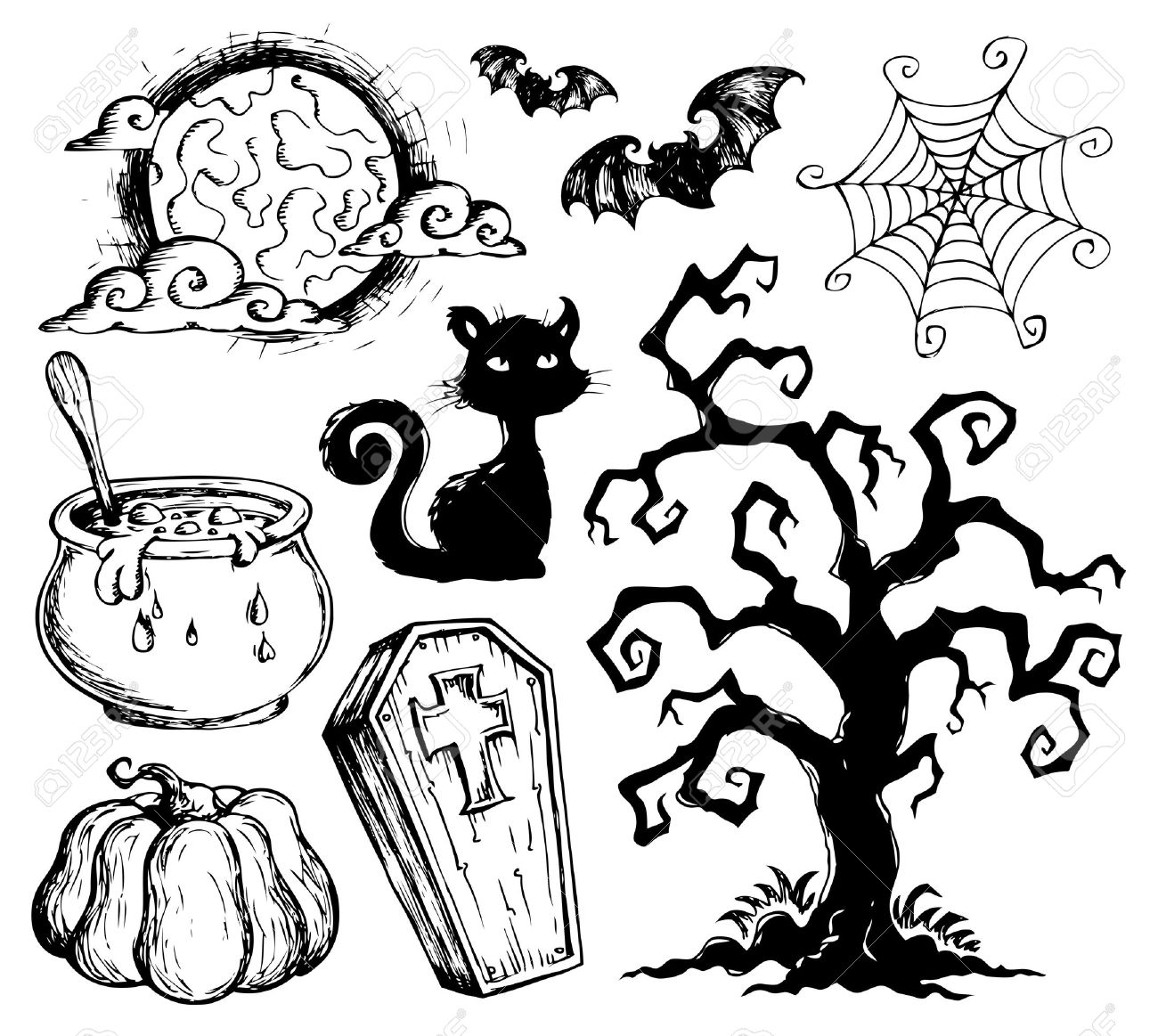 Halloween Drawings Royalty Free Cliparts, Vectors, And Stock ...