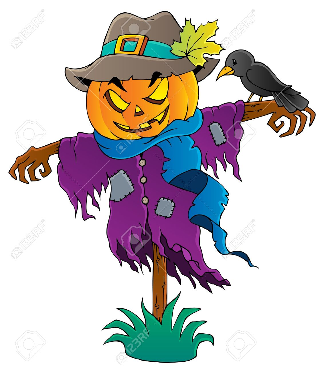 halloween scarecrow stock vector 15374202 - Halloween Scare Crow