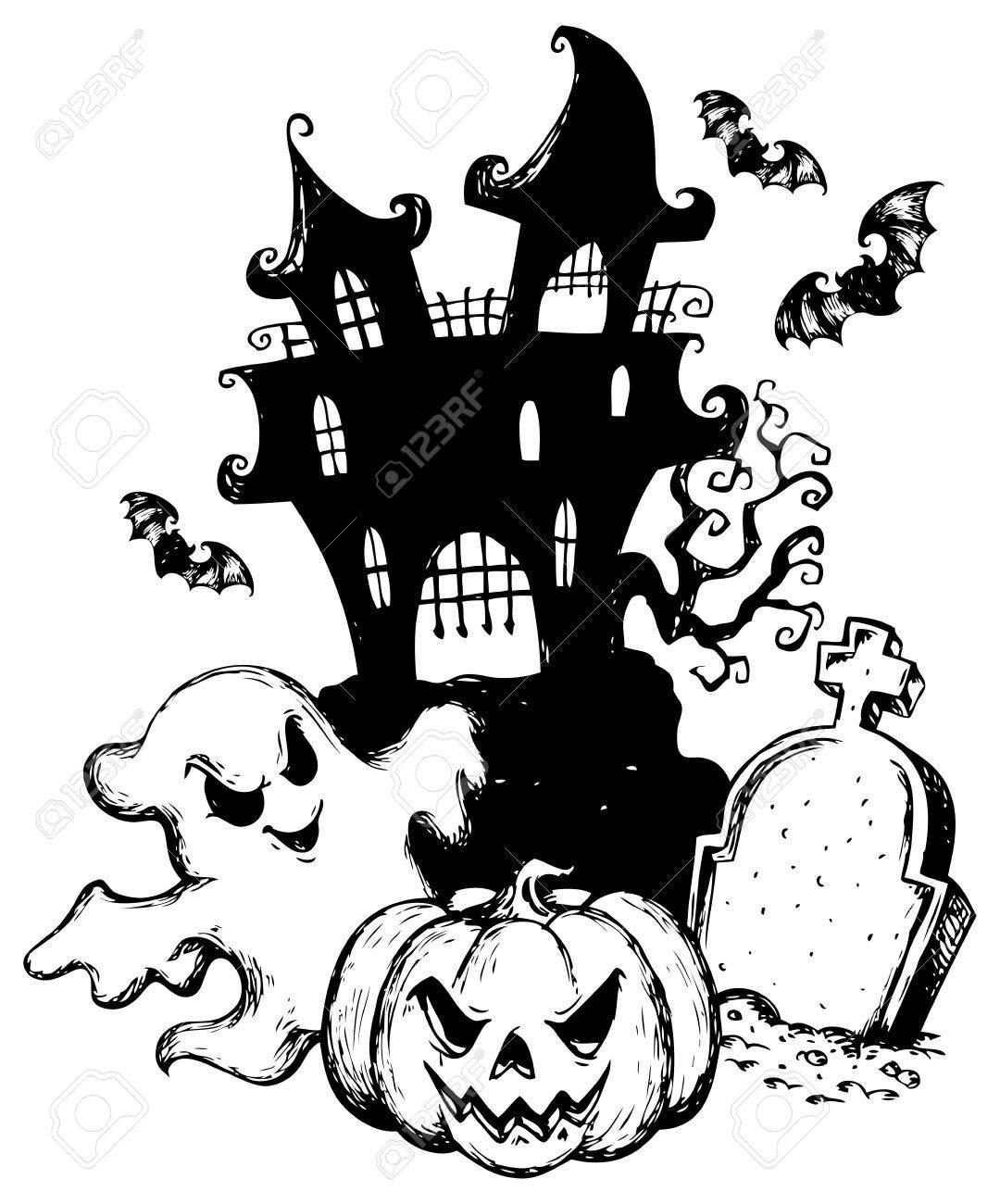 Halloween theme drawing Stock Vector - 15374135