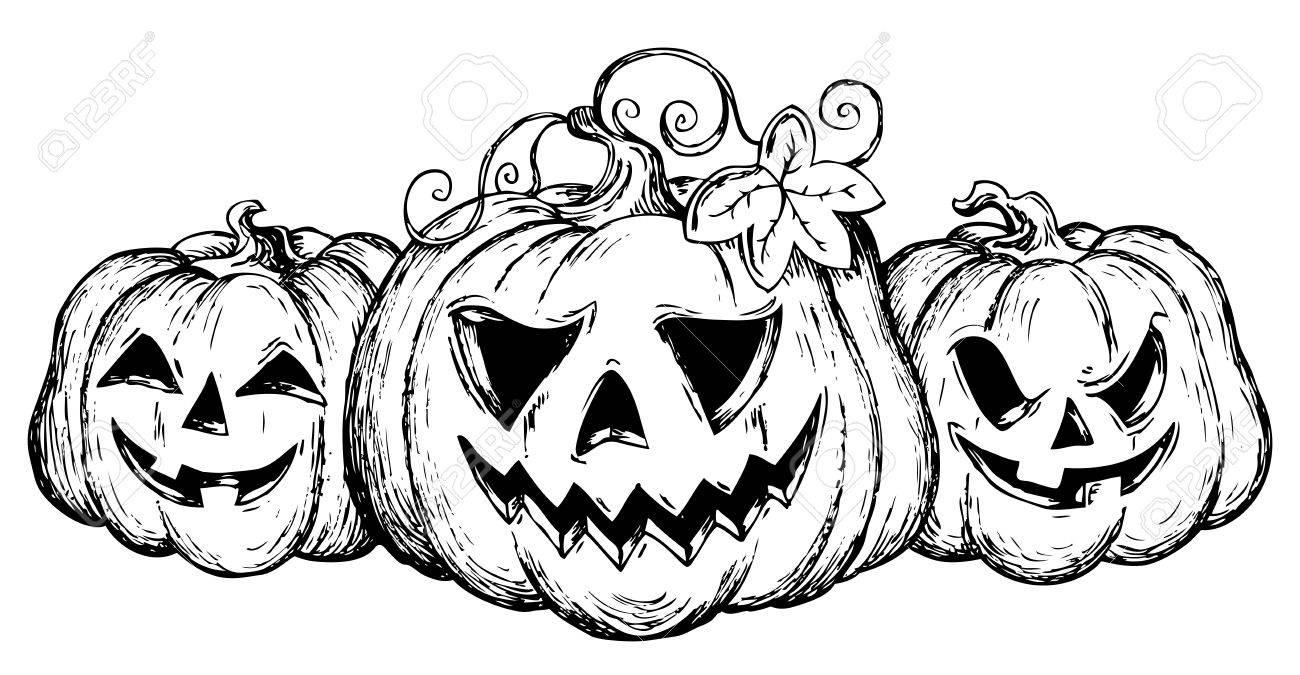 Halloween theme drawing 2 - vector illustration Stock Vector - 15374145