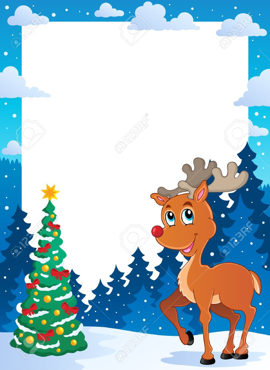 Christmas Theme Frame Royalty Free Cliparts, Vectors, And Stock ...