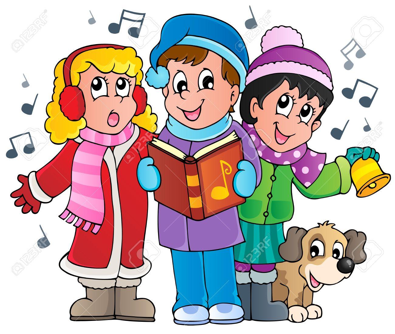 Christmas Carol Singers Theme 1 Royalty Free Cliparts, Vectors ...