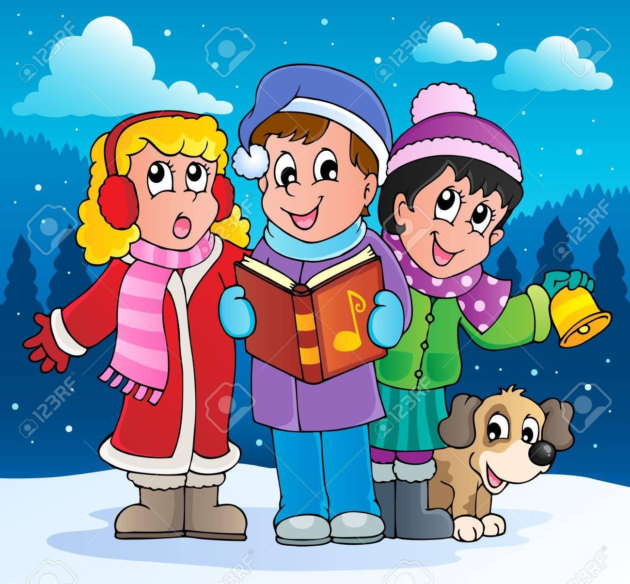 Christmas carol singers theme 2 Stock Vector - 16273000