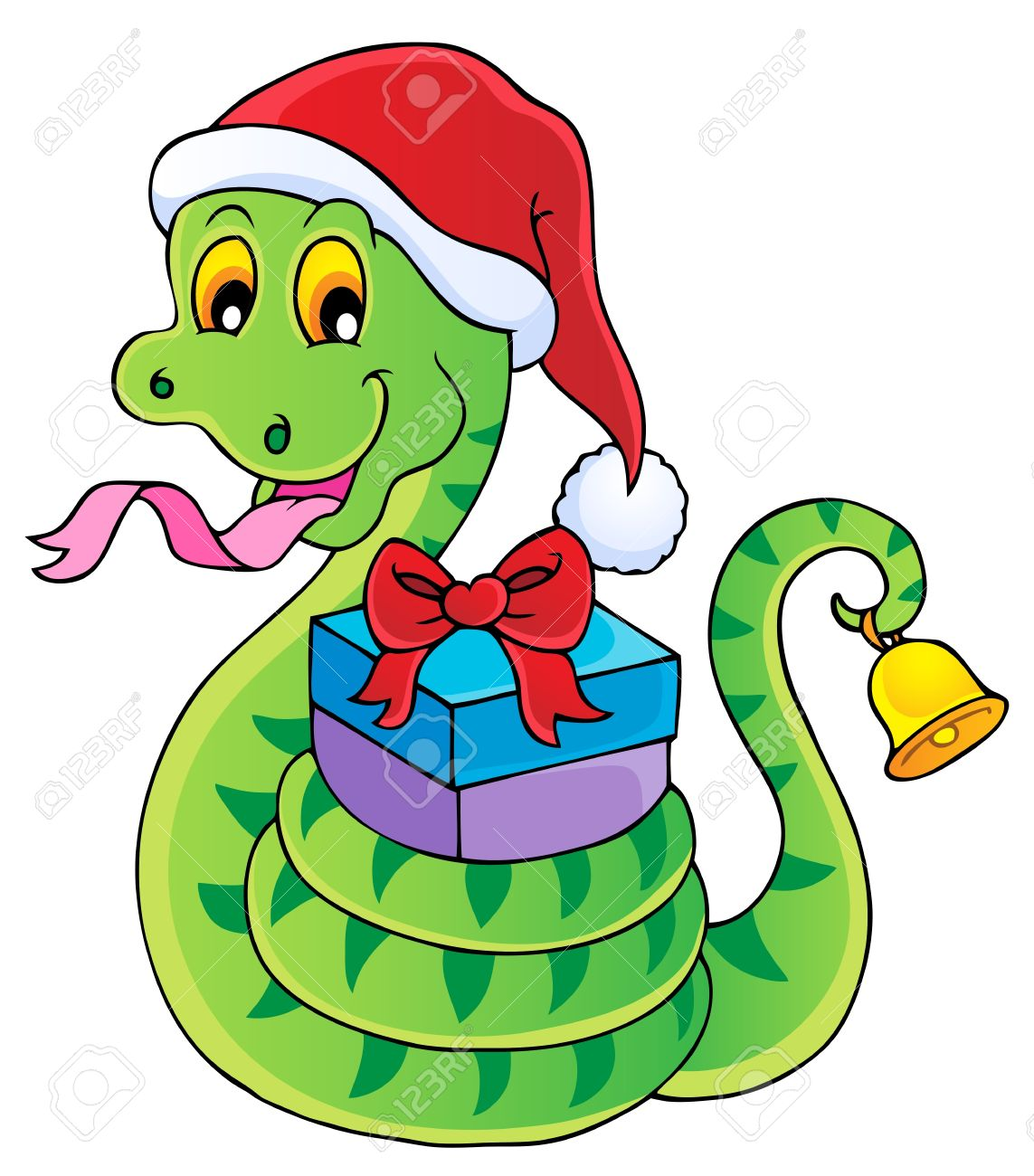Christmas snake theme image 1 - vector illustration Stock Vector - 16503844