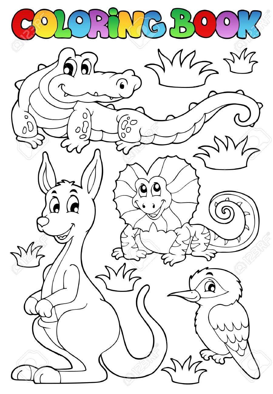 2 - のベクトル イラスト本オーストラリア動物を着色 ロイヤリティ