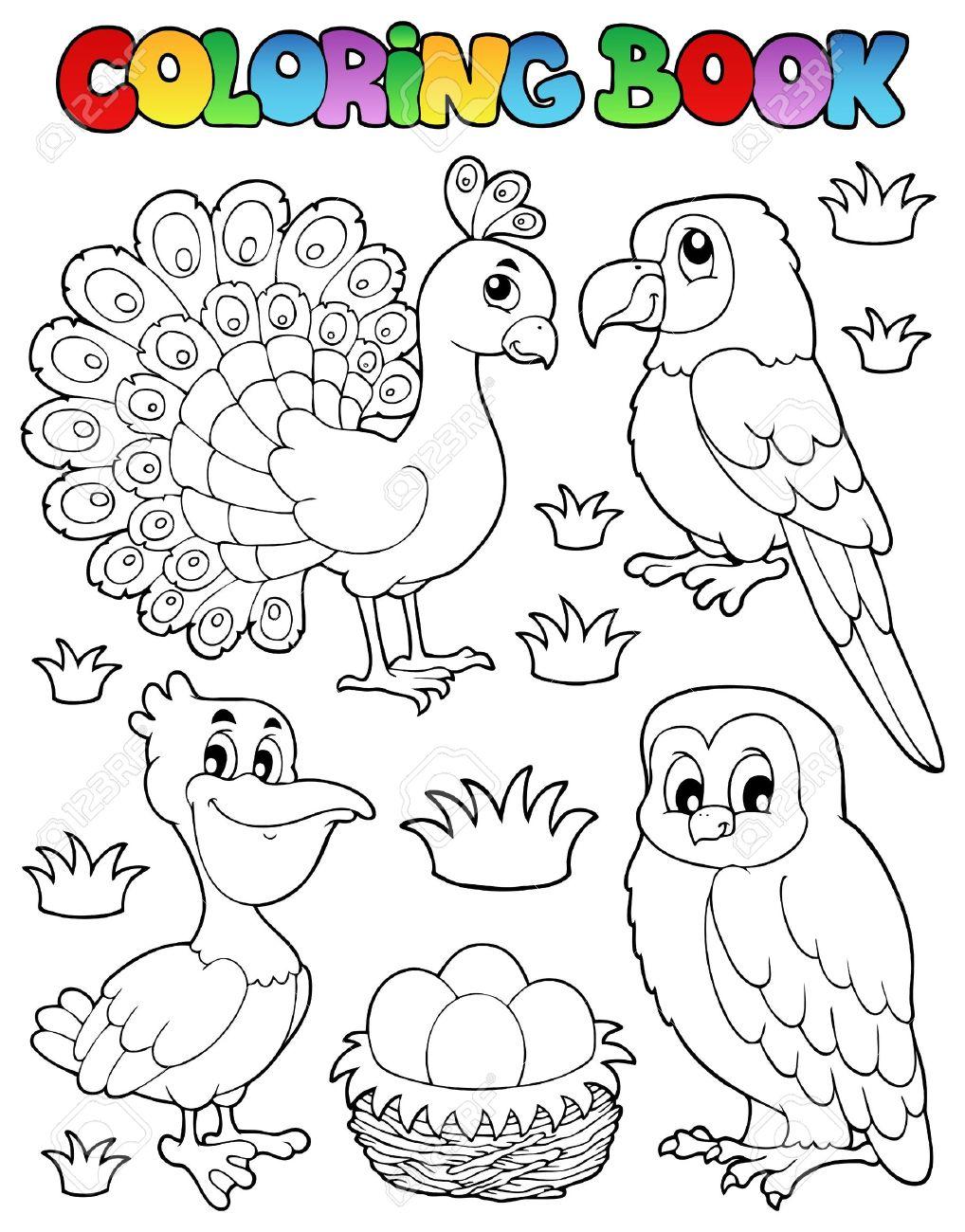 libro para colorear pjaro ilustracin imagen foto de archivo 16906795