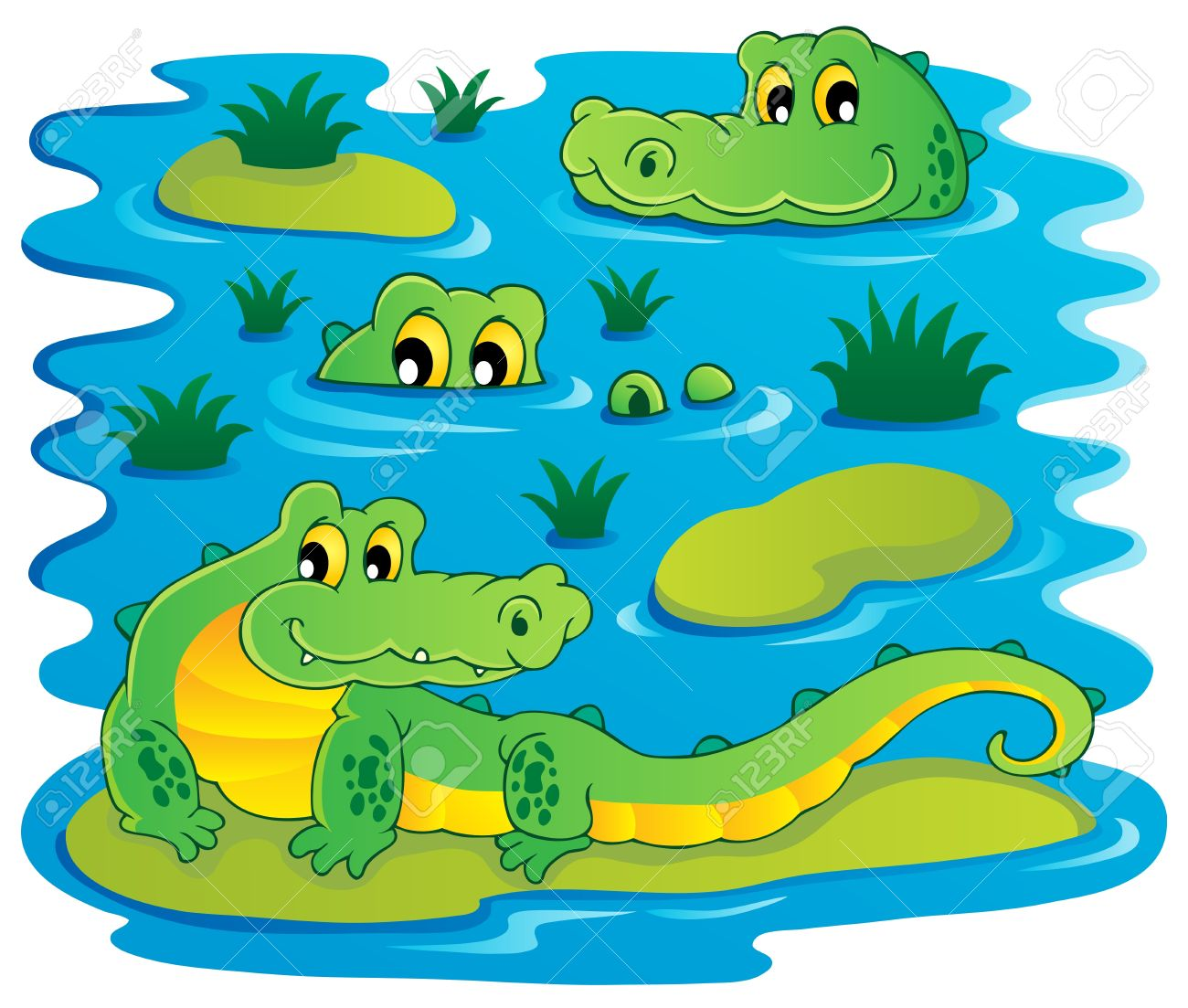 Image with crocodile theme illustration Stock Vector - 16906745