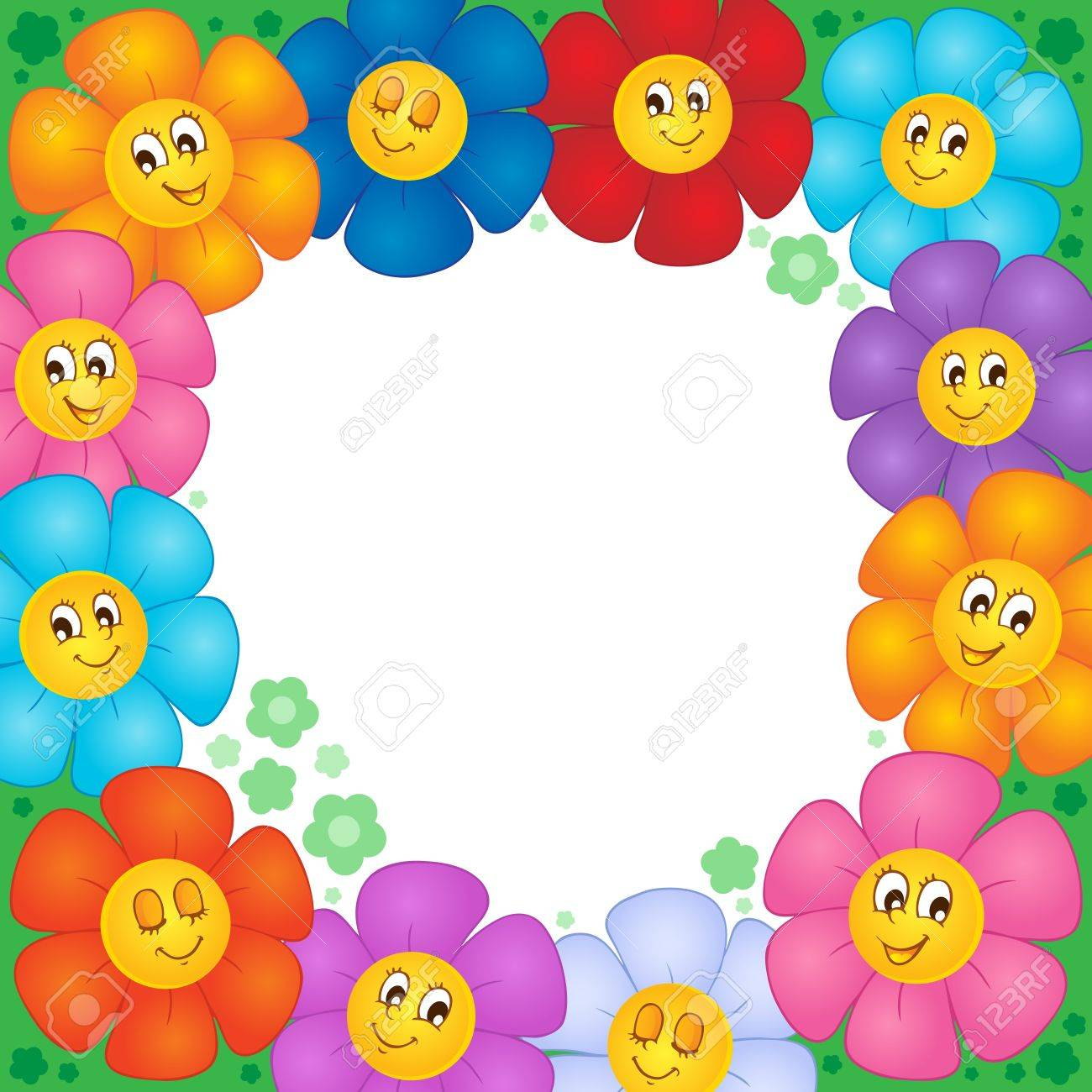 Frame from flowers 1 - vector illustration Stock Vector - 17368252