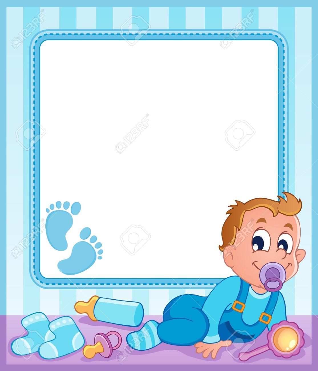 Bebé Marco Del Tema 1 Ilustraciones Vectoriales, Clip Art ...