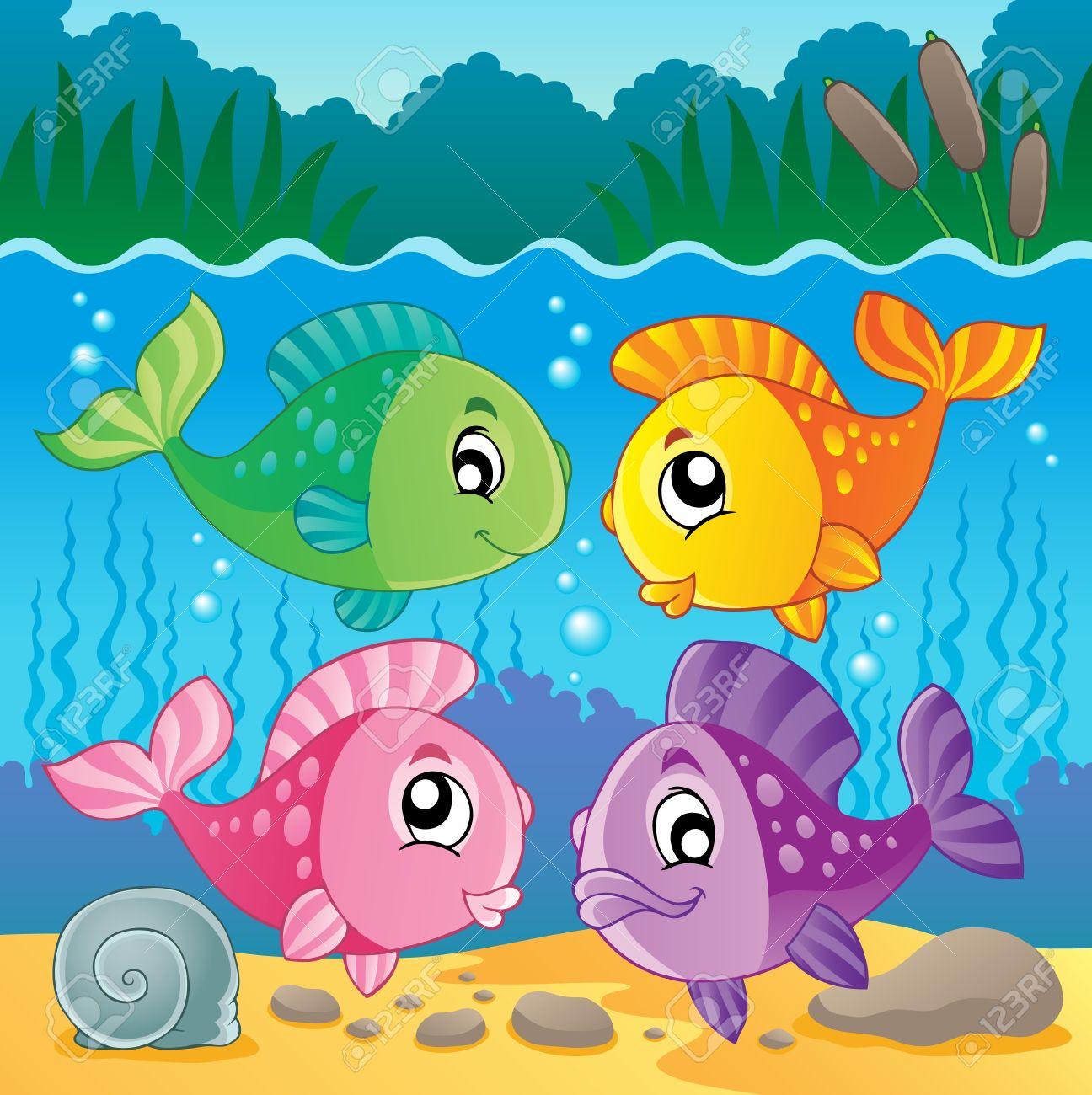 Freshwater fish art - Freshwater Fish Theme Image Stock Vector 17794525