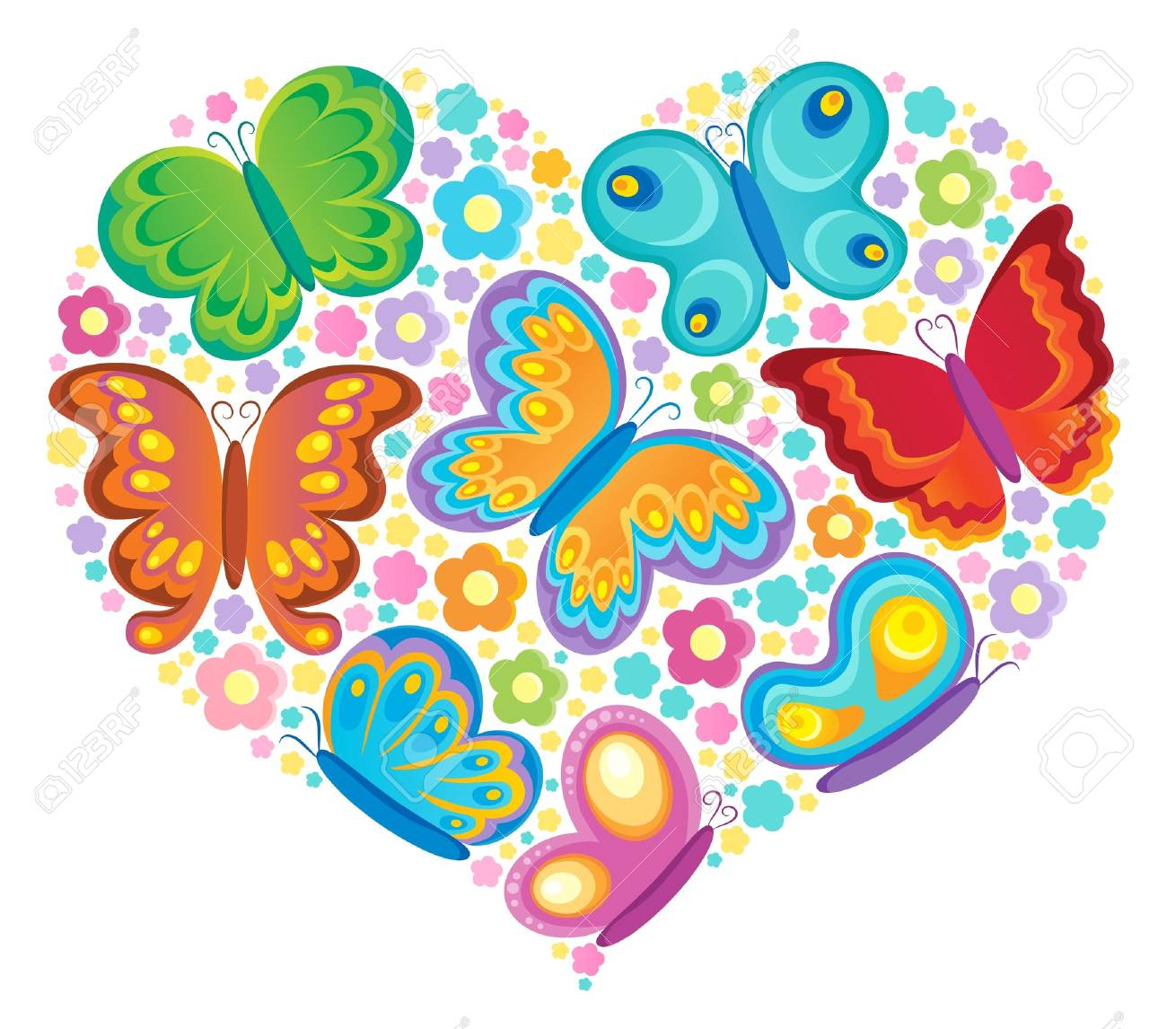 Butterfly theme image Stock Vector - 18088642
