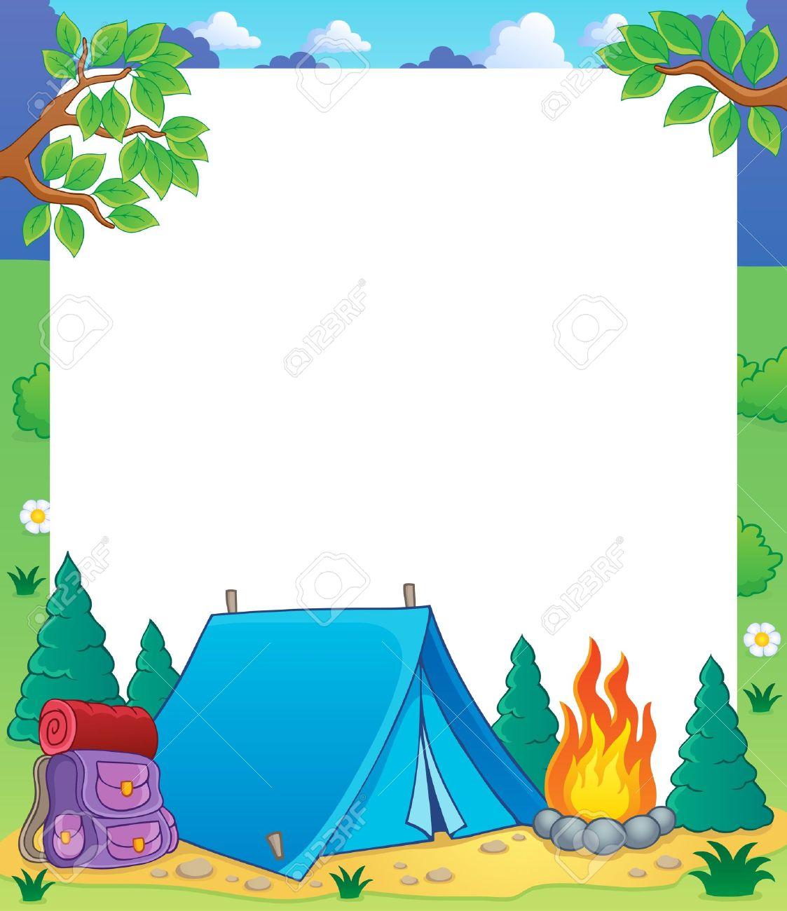 Camping theme frame - 18559648