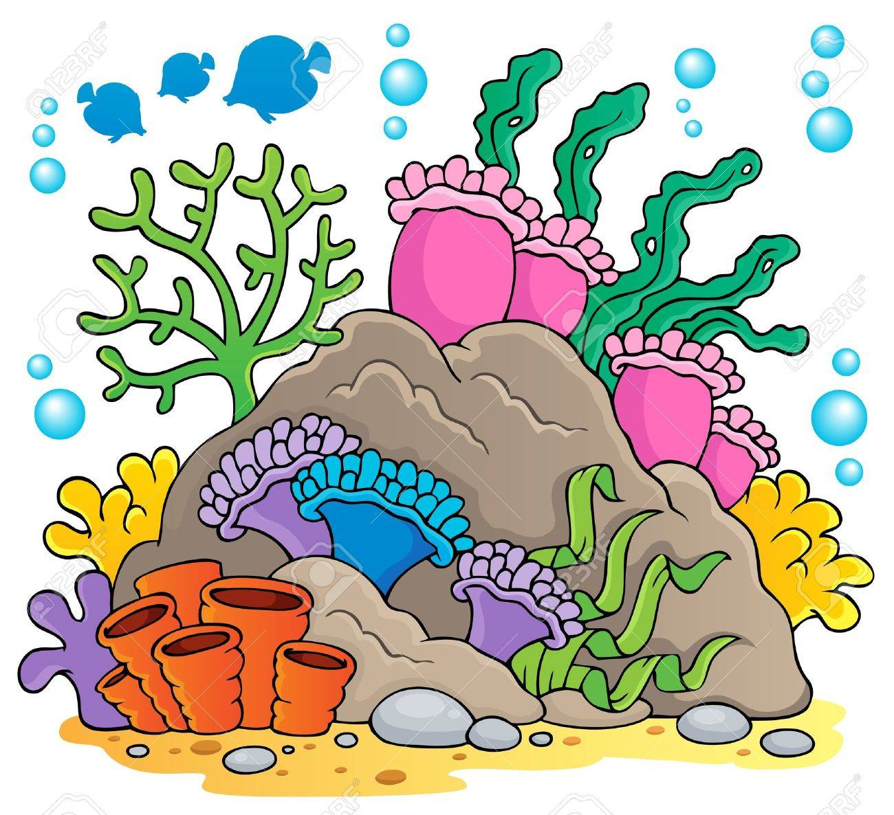 Coral reef theme Stock Vector - 18560355