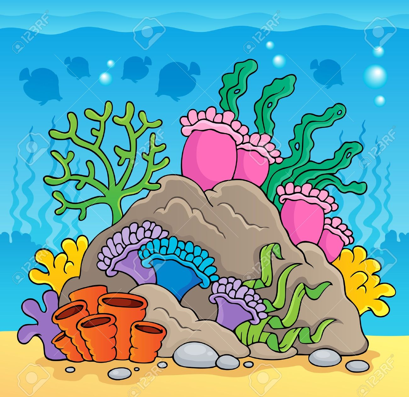 Coral reef theme Stock Vector - 18560354