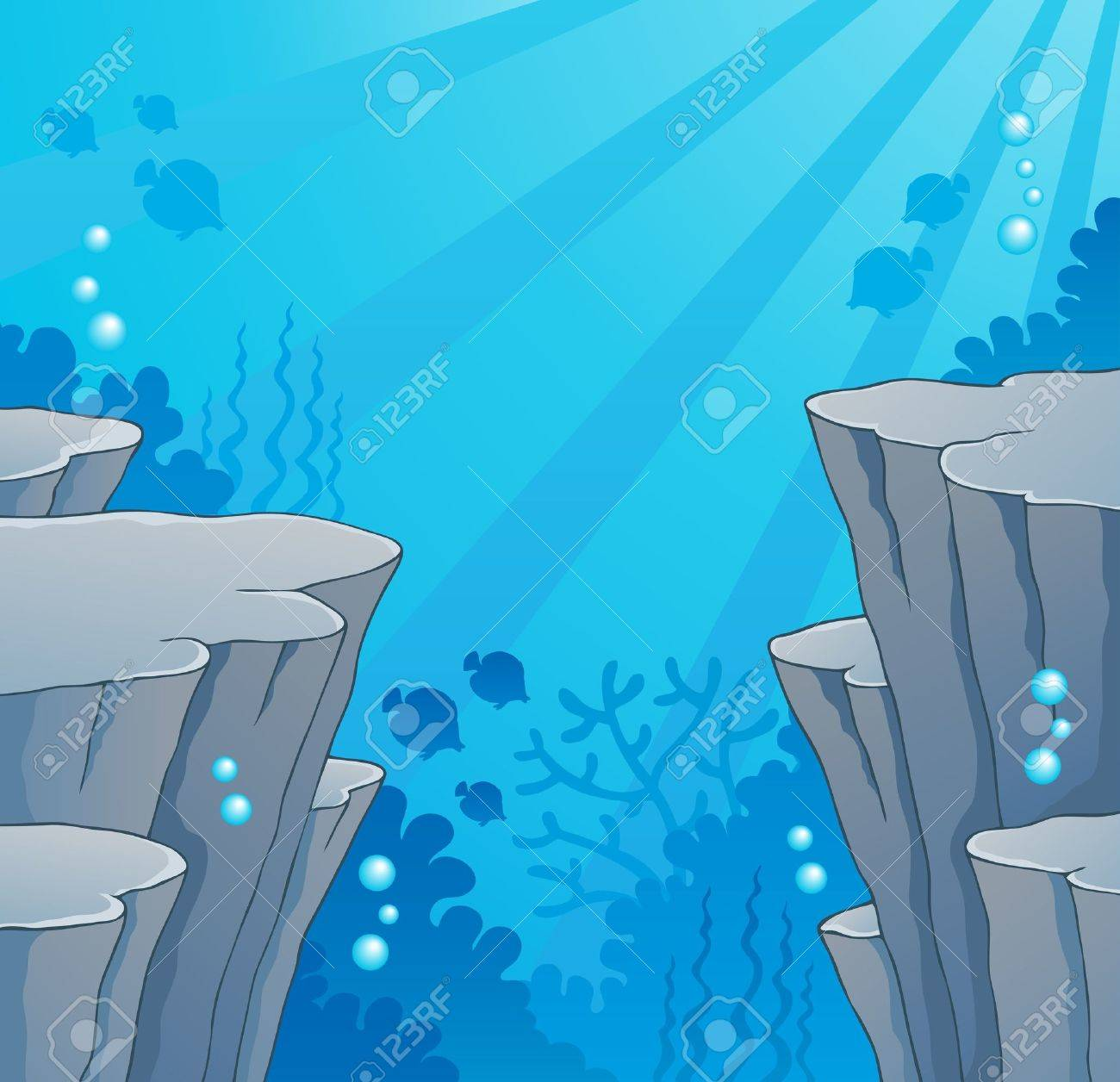 Image with undersea Stock Vector - 18560356