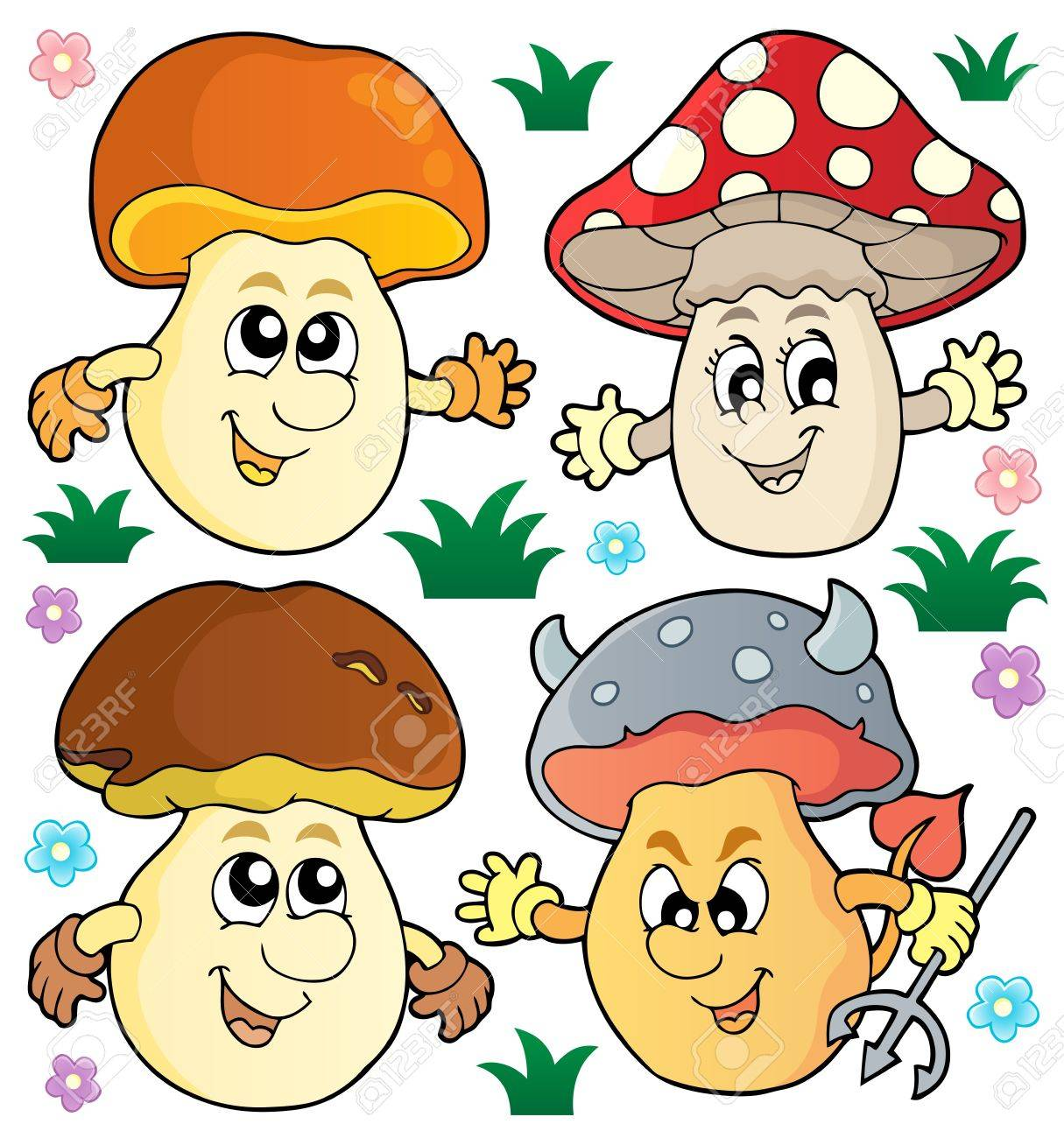 Mushrooms Stock Vector - 18559645