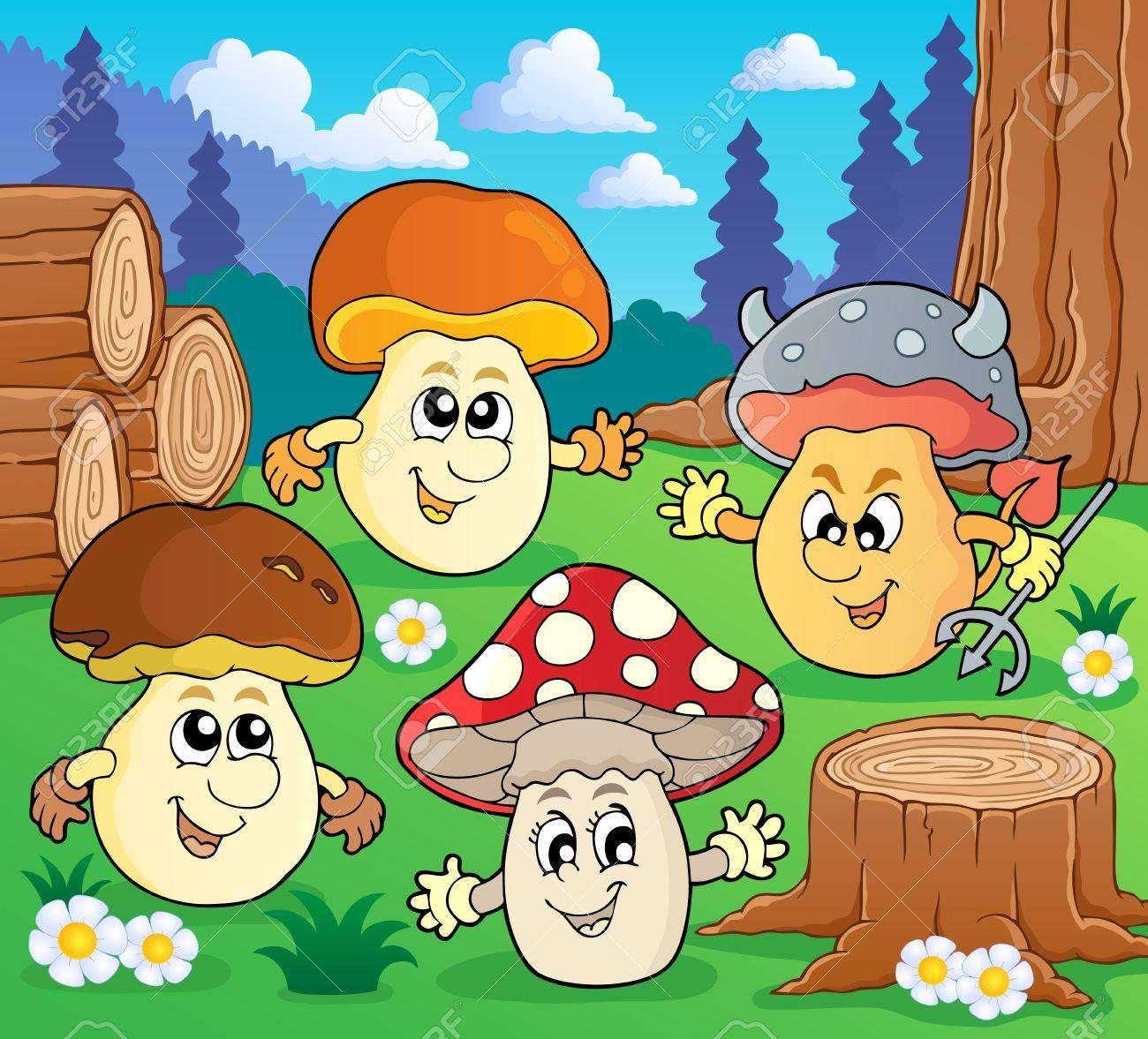 Mushroom theme Stock Vector - 18560360