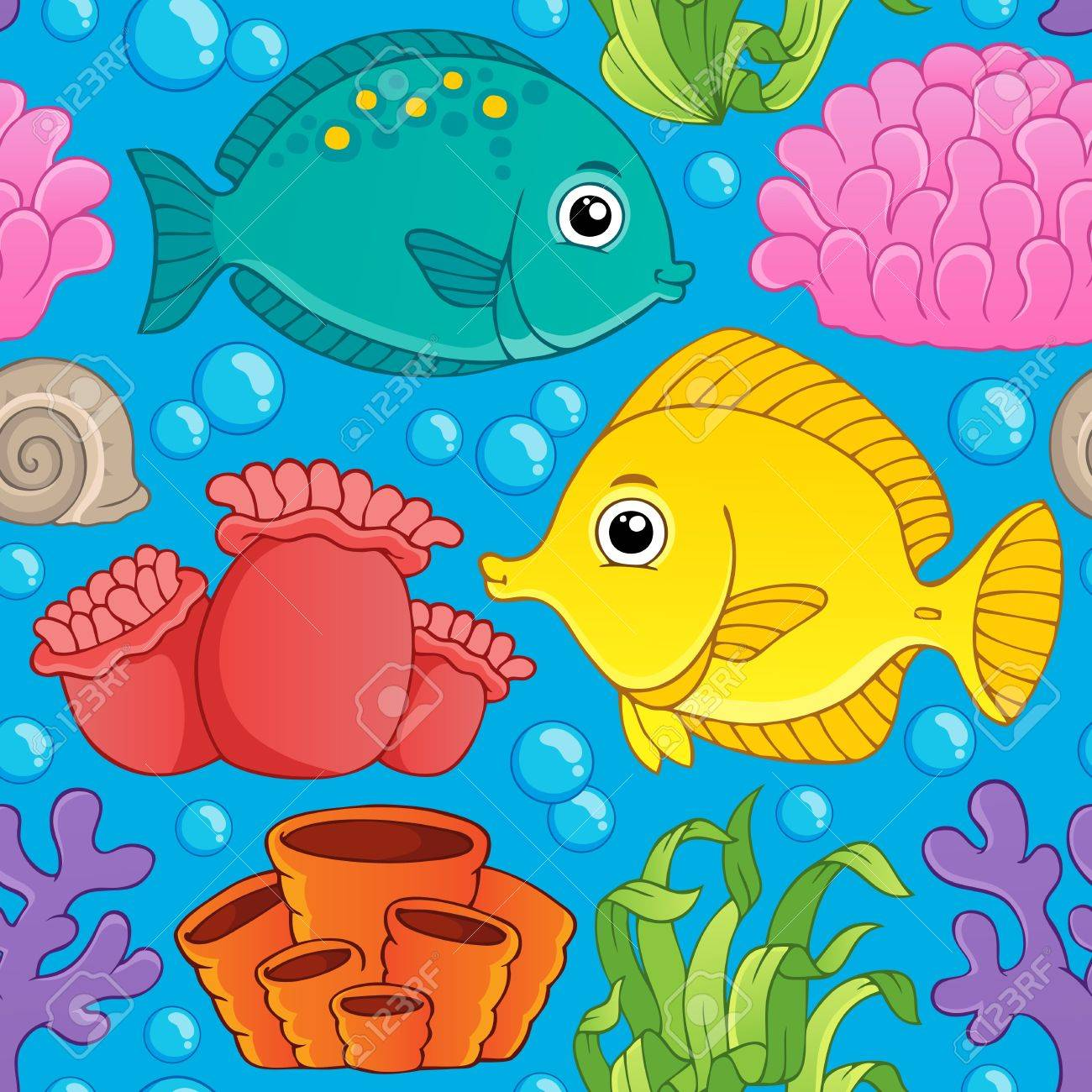 Seamless background sea theme Stock Vector - 18559650