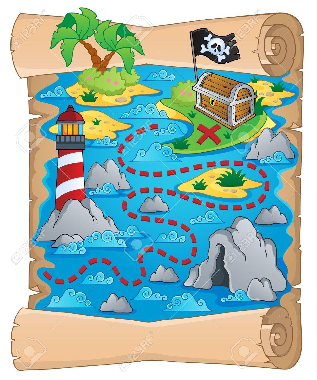 Treasure Map Theme Royalty Free Cliparts, Vectors, And Stock ...