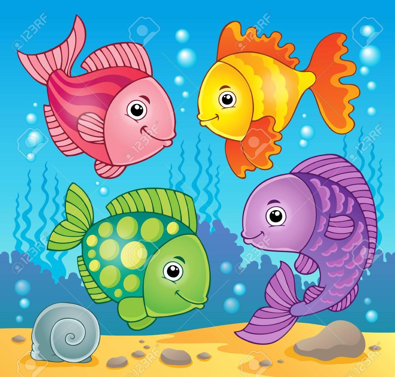 Fish theme image Stock Vector - 19059113