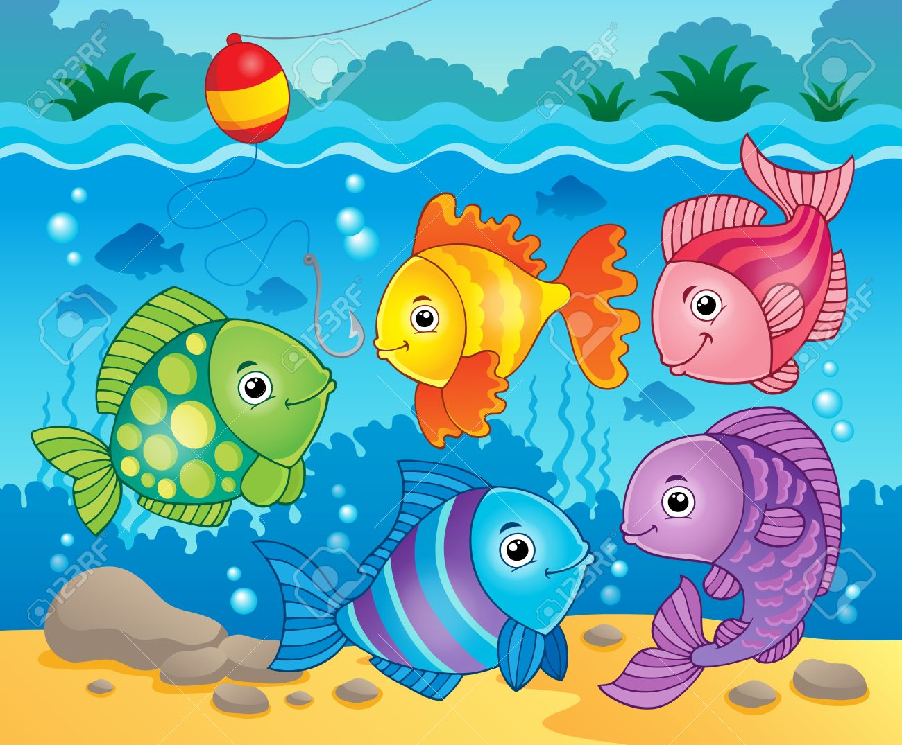 Fish theme image  fish...