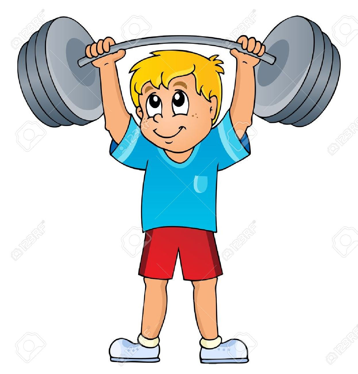 sport and gym theme royalty free cliparts vectors and stock rh 123rf com weight lifting clipart weight training clipart free
