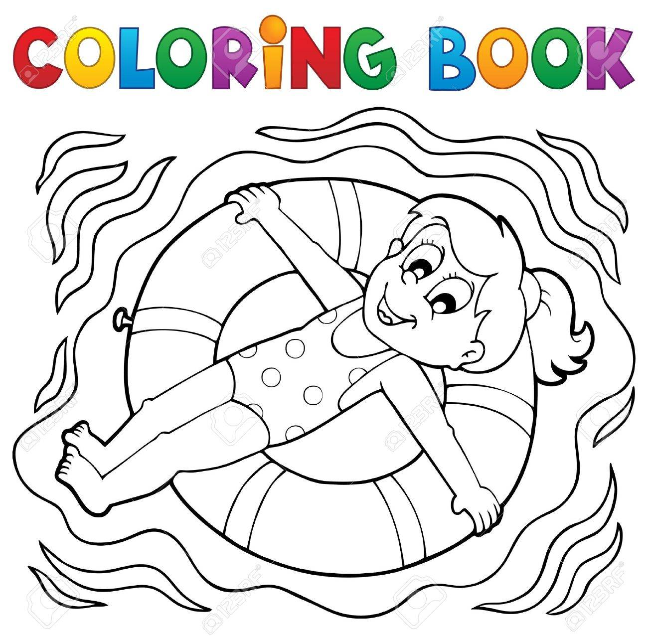 Coloring Book Water Sport Royalty Free Cliparts, Vectors, And ...
