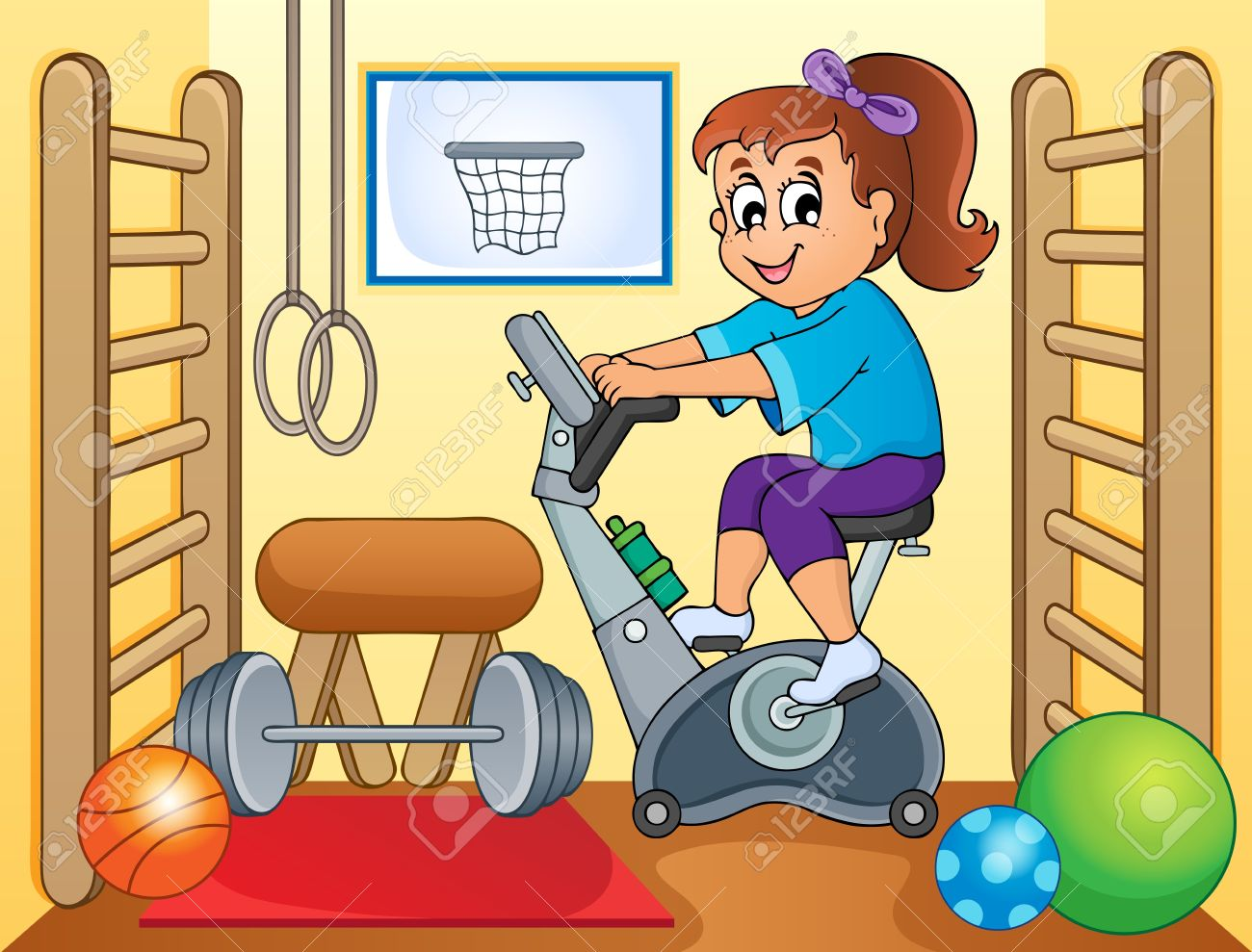 Image result for gym cartoon